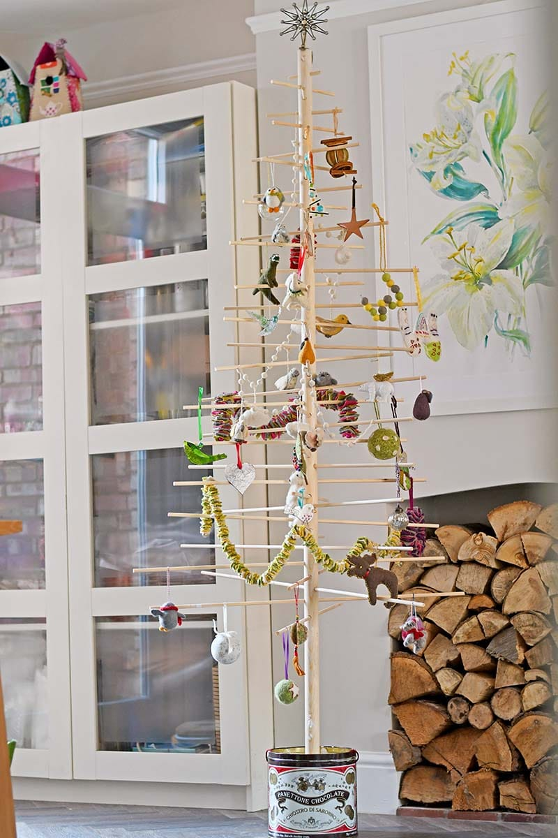Decorated DIY Nordic Christmas Tree full instructions