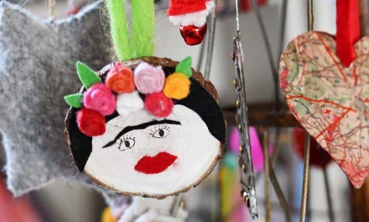 How To Make A Fun Frida Kahlo Christmas Ornament