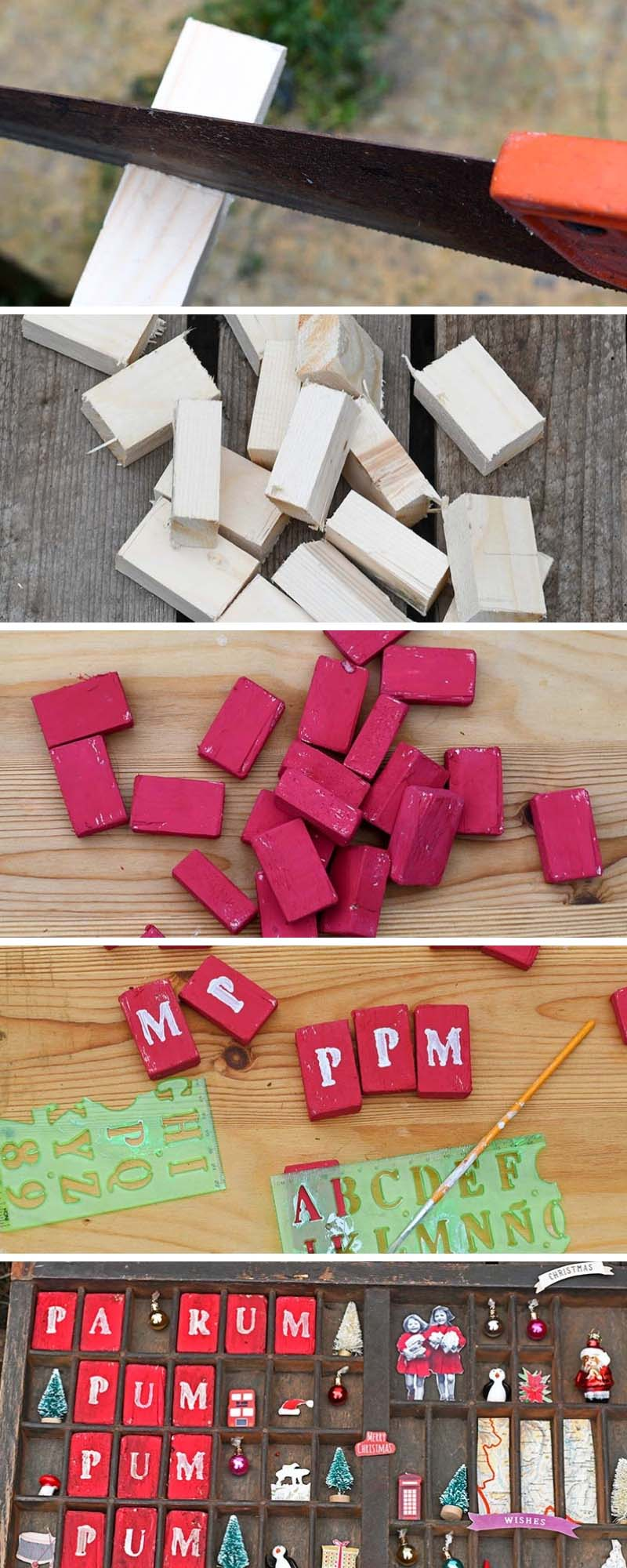 Making letters for printer tray