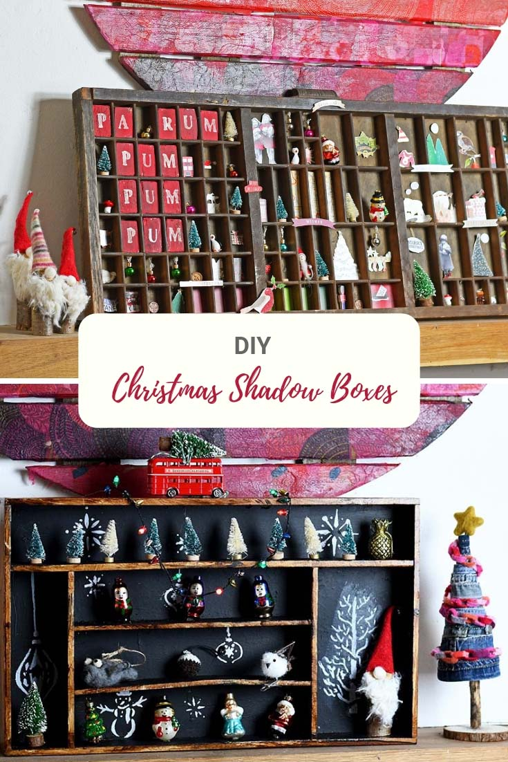 Repurposed Christmas Shadow boxes