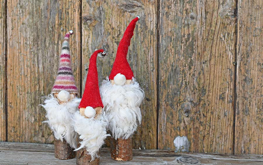 Christmas Gnomes Diy.Super Easy To Make Cute Norwegian Christmas Gnomes Pillar