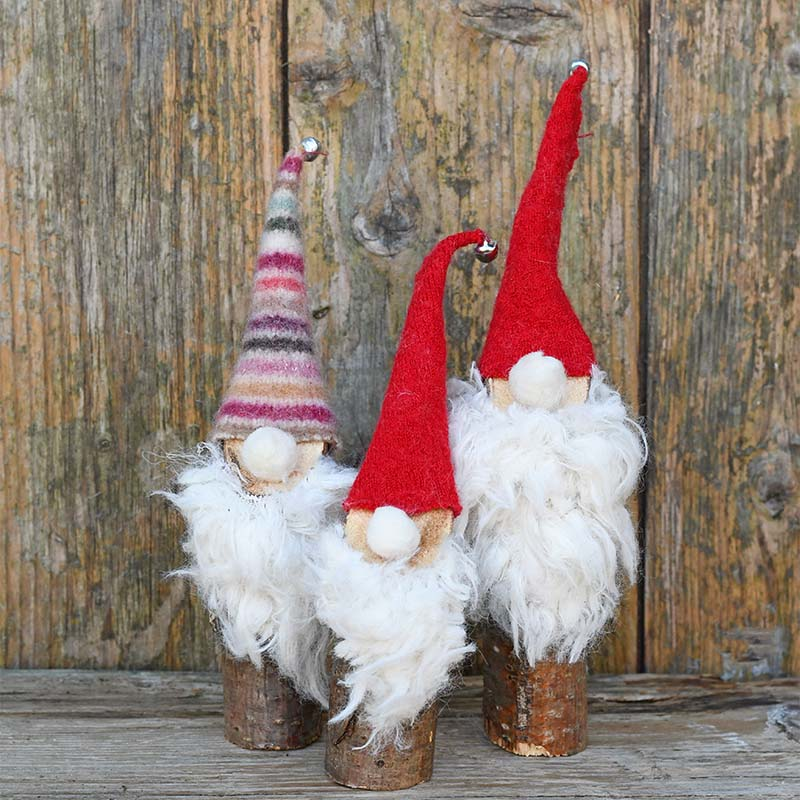 Trio of Norwegian Christmas gnomes