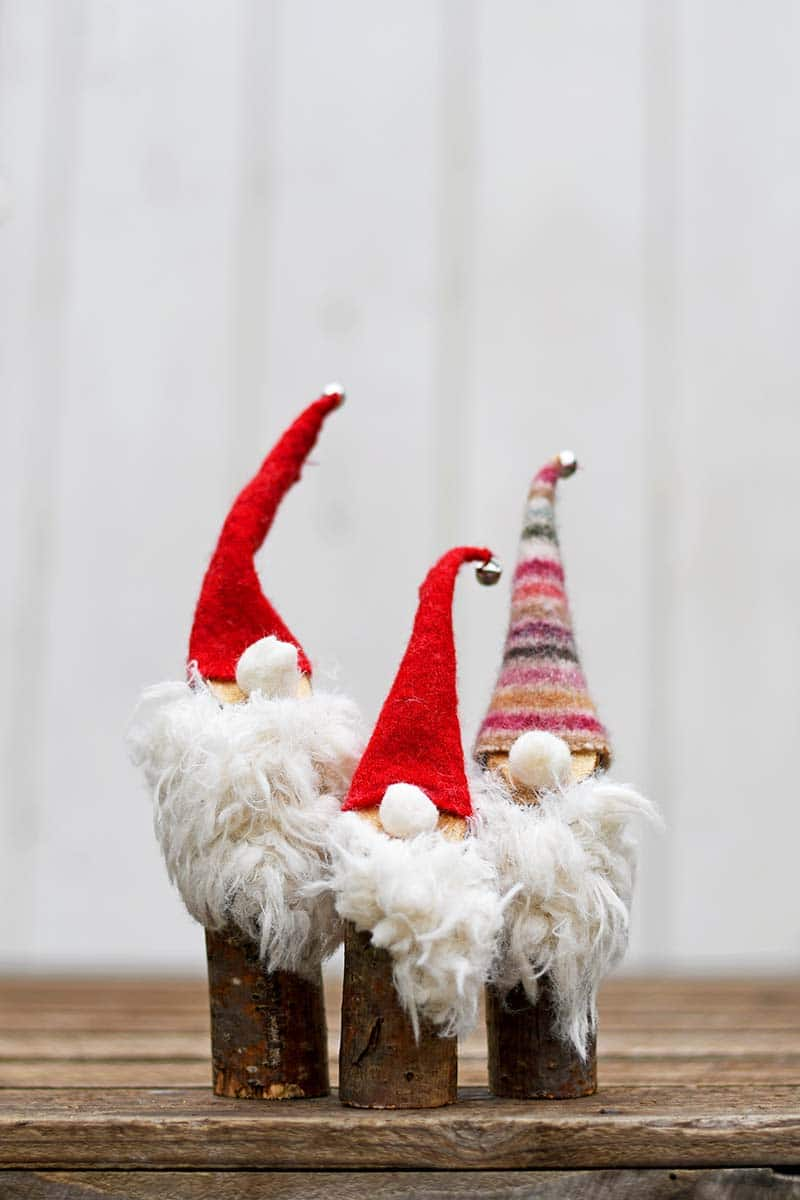 Easy DIY upcycled Christmas Norwegian Gnomes