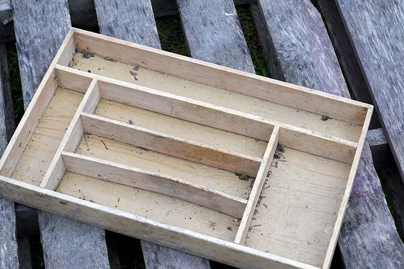 Old IKEA wooden cutlery tray