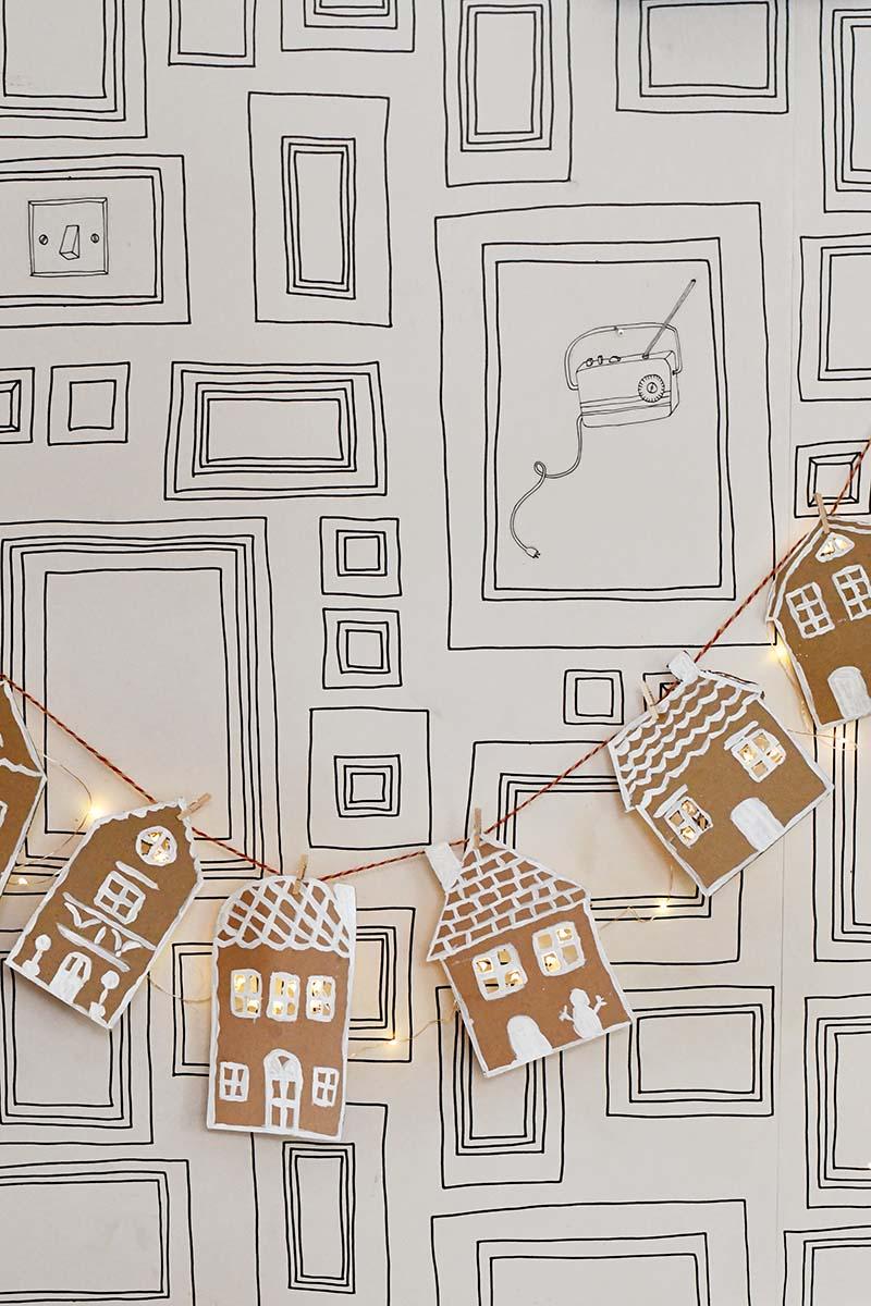 Repurposed gingerbread house