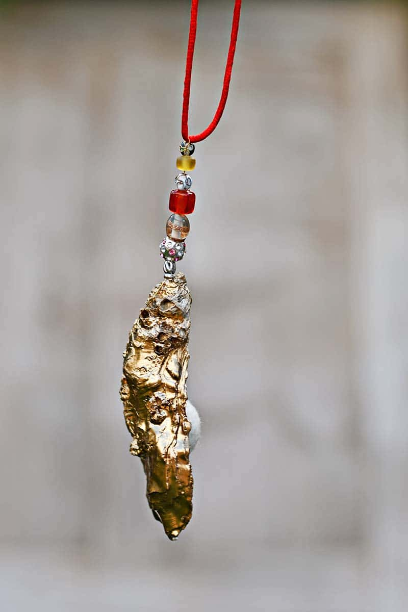 Christmas shell ornament
