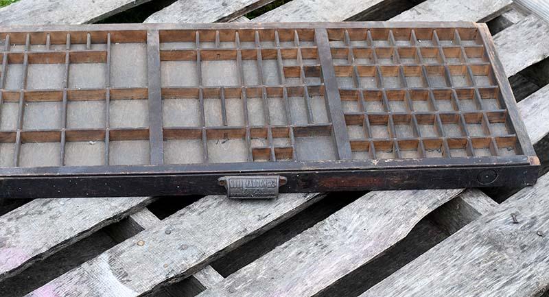 Vintage printers tray