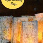 DIY Map Luminary Bags