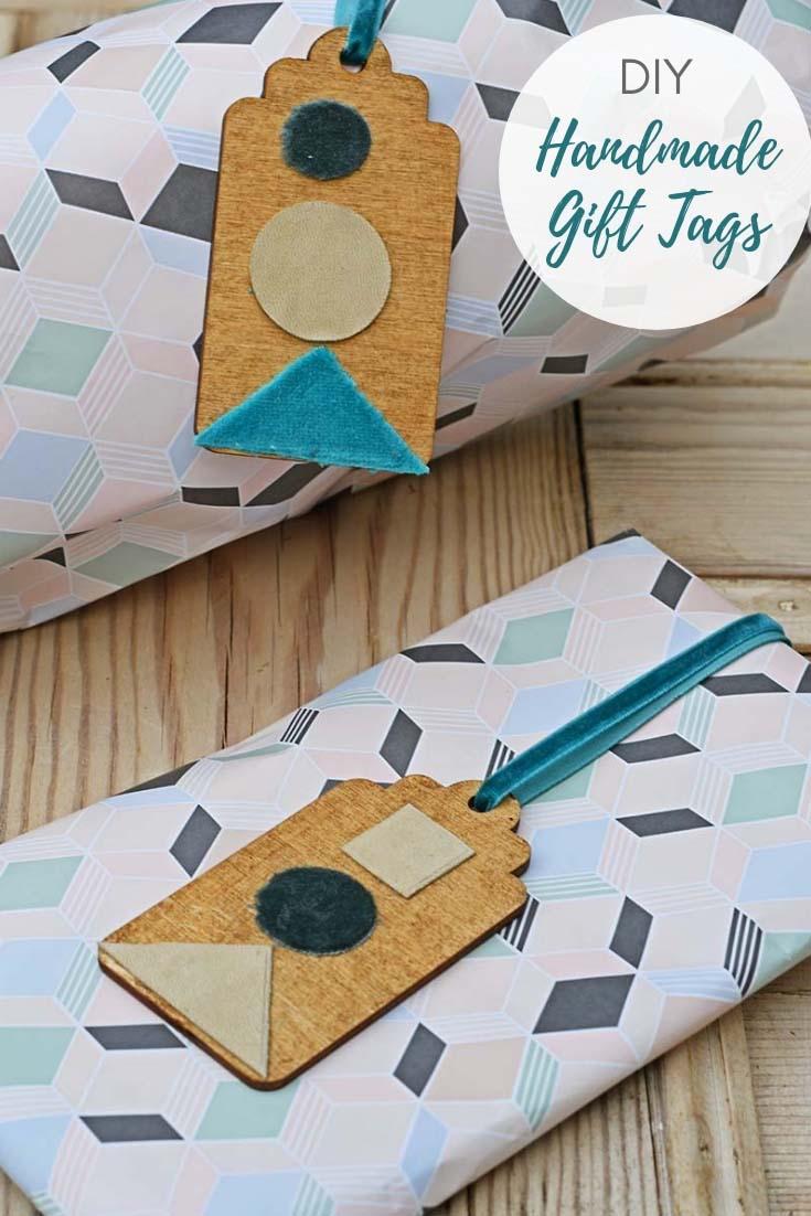 DIY velvet handmade gift tags