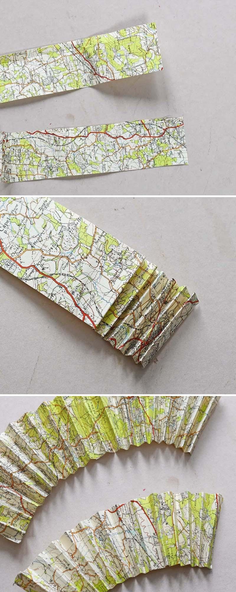 Concertina folding maps