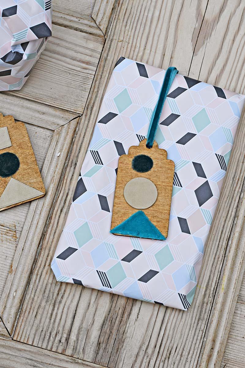 Geometric handmade gift tags