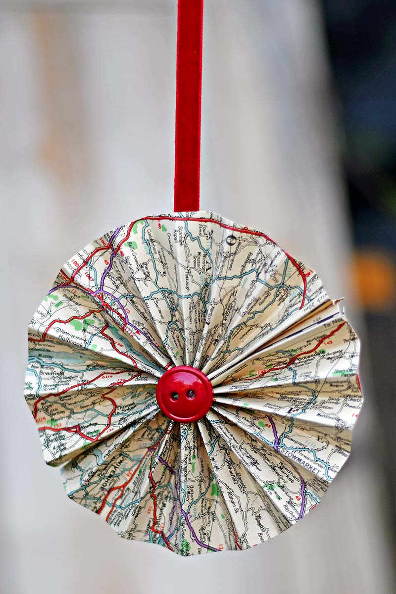 Road map rosette ornament tutorial
