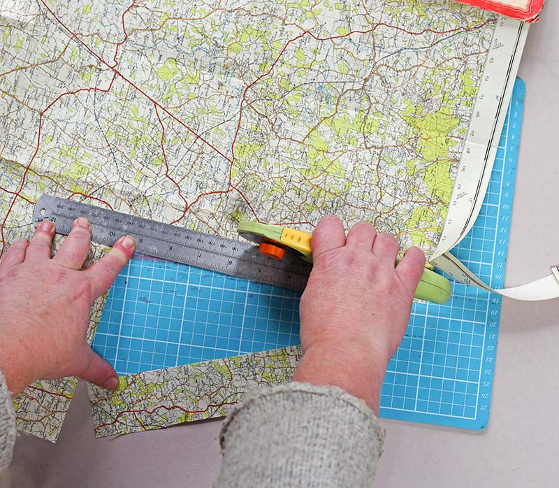 Cutting up road maps