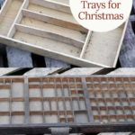 How to style a wooden tray for Christmas