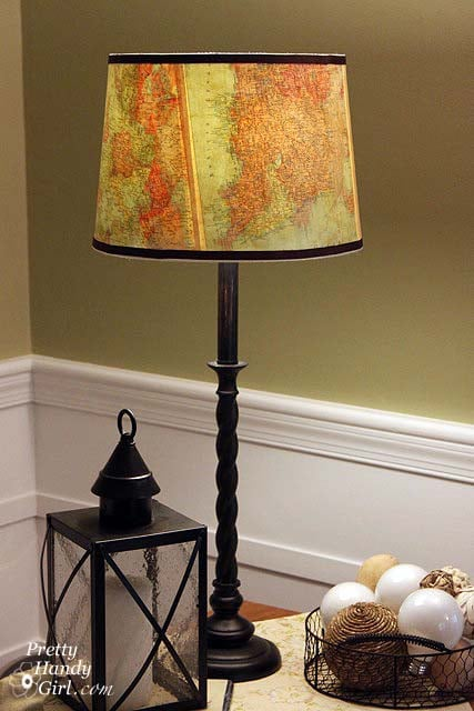 upcycled lighting ideas with maps