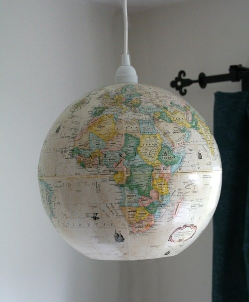 Upcycled lighting ideas whole globe