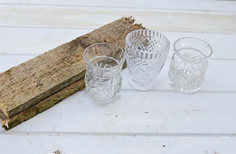scrap wood and glasses