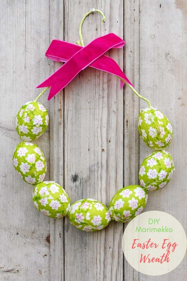 Marimekko Easter Egg Wreath