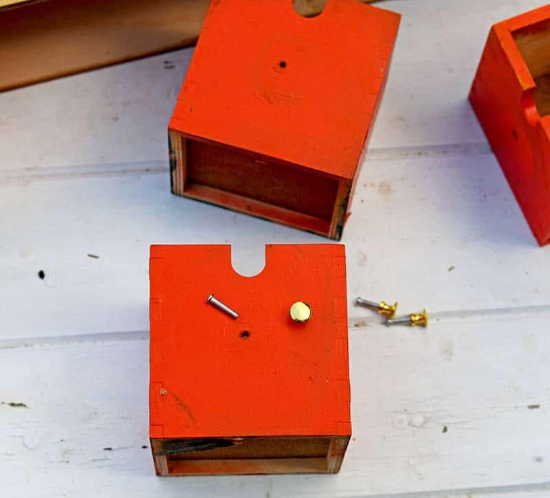 Drilling cabinet knob holes