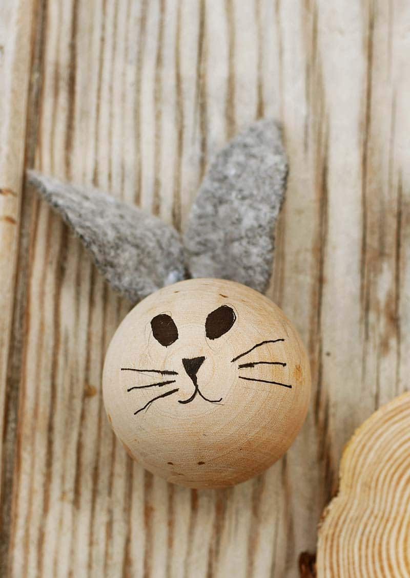 The rabbit head and face design