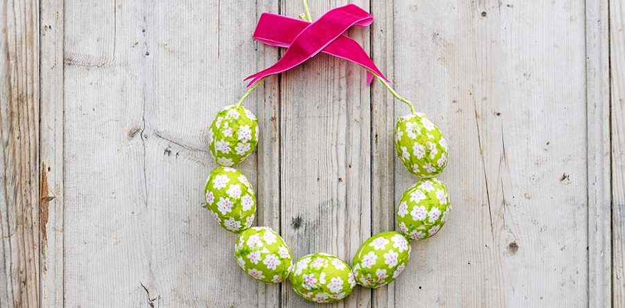 How To Make A Simple Marimekko Easter Egg Wreath