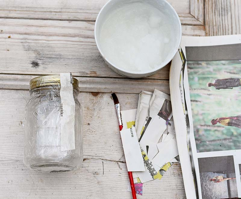 paper mache the mason jar