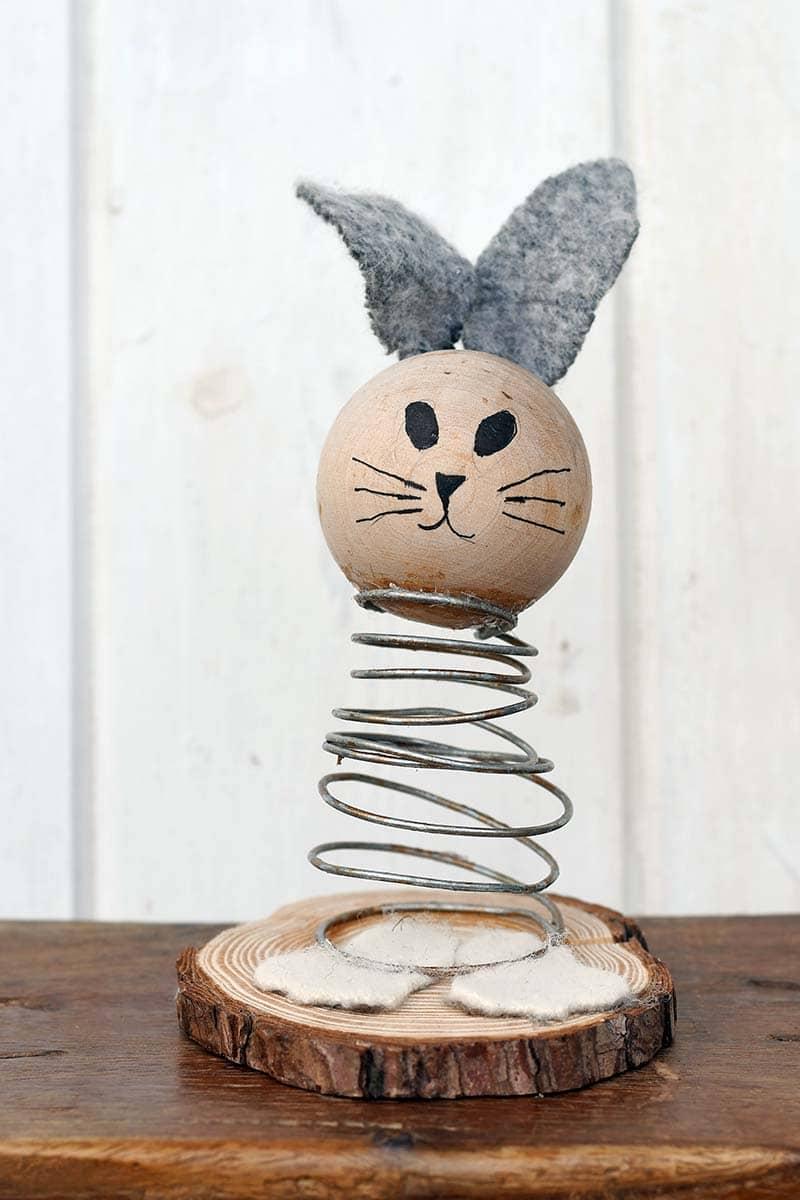 Spring bunny farmhouse decor