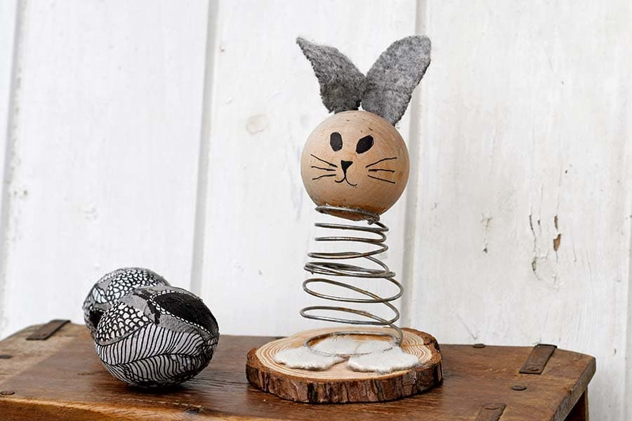 upcycled spring bunny
