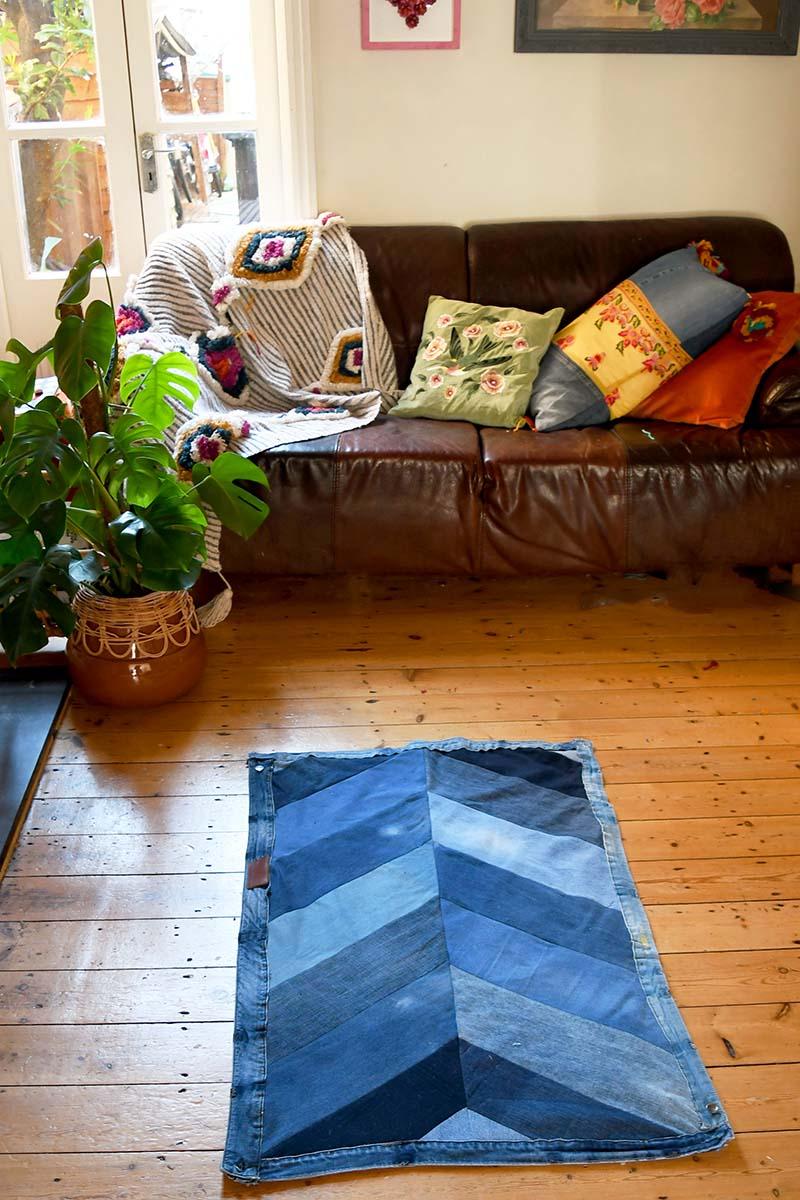 Handmade chevron rug study