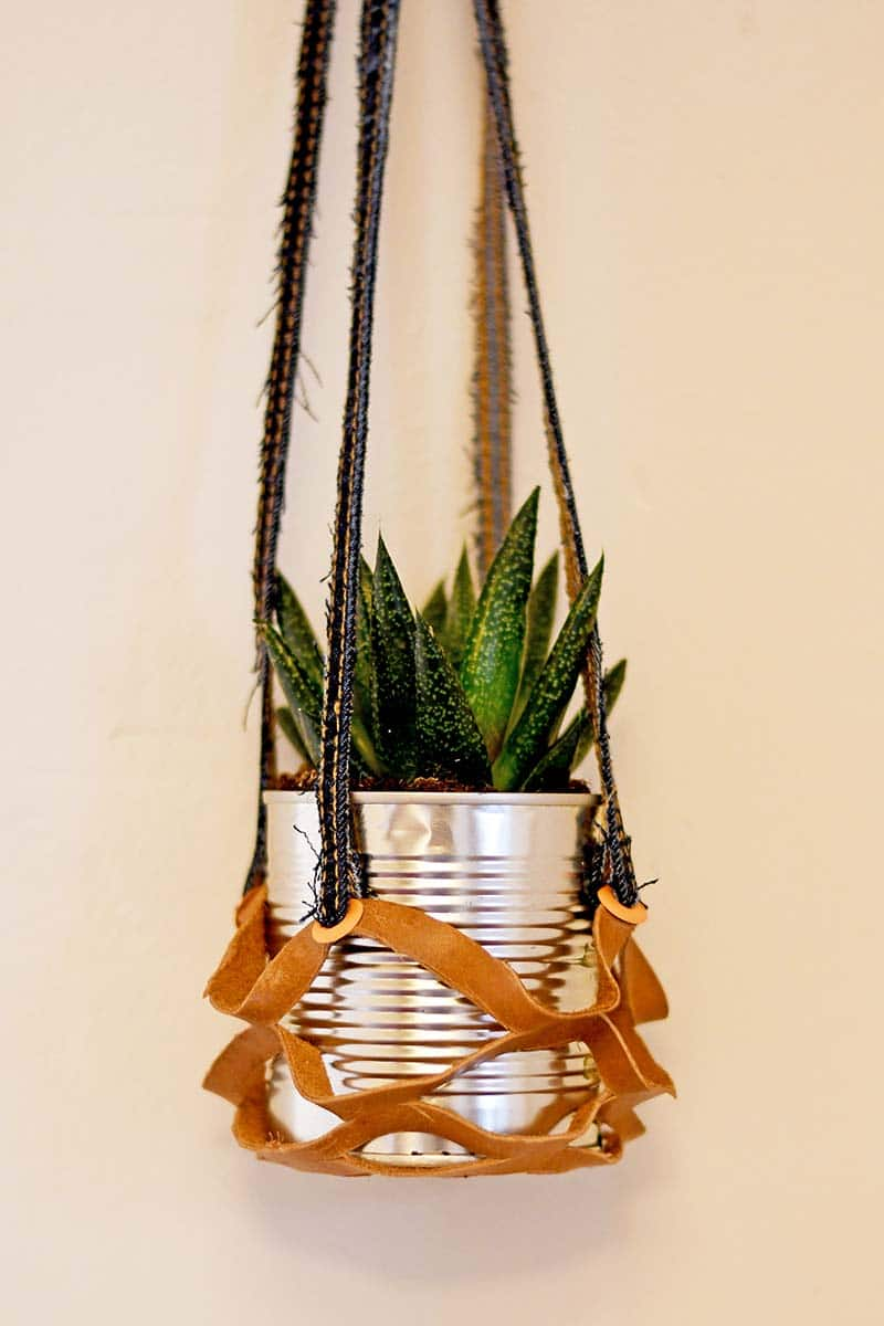 indoor recycled hanging planters