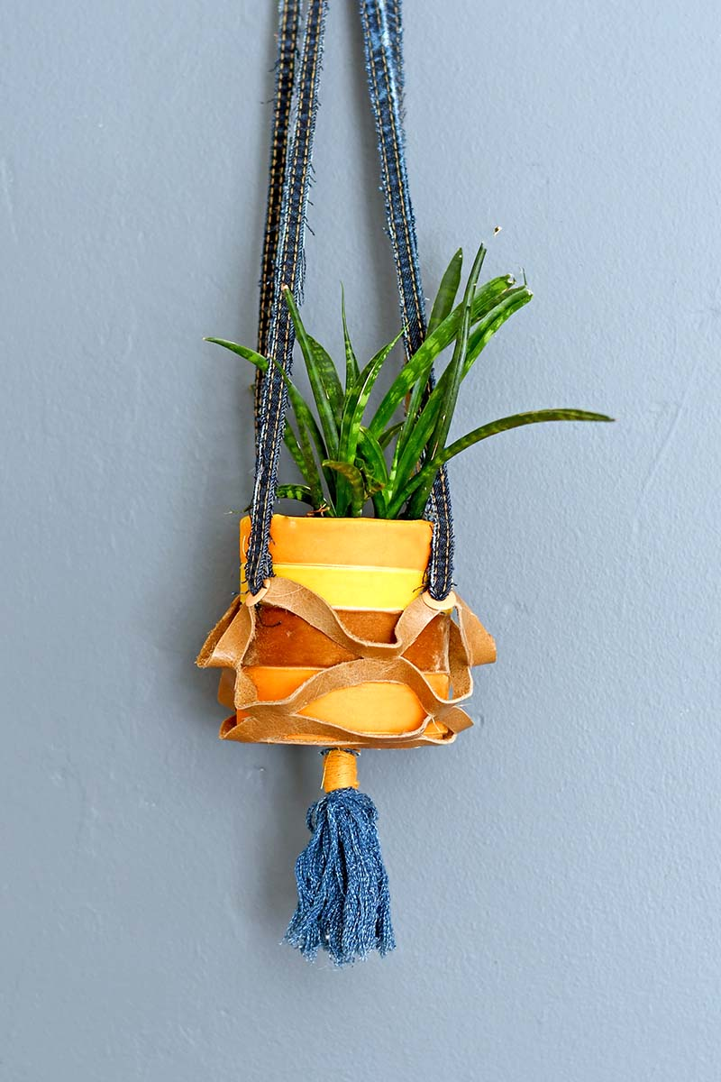 velvet hanging tin can planters