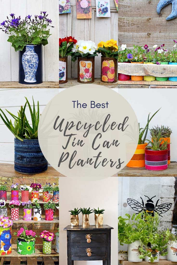 the best tin can planter upcycles