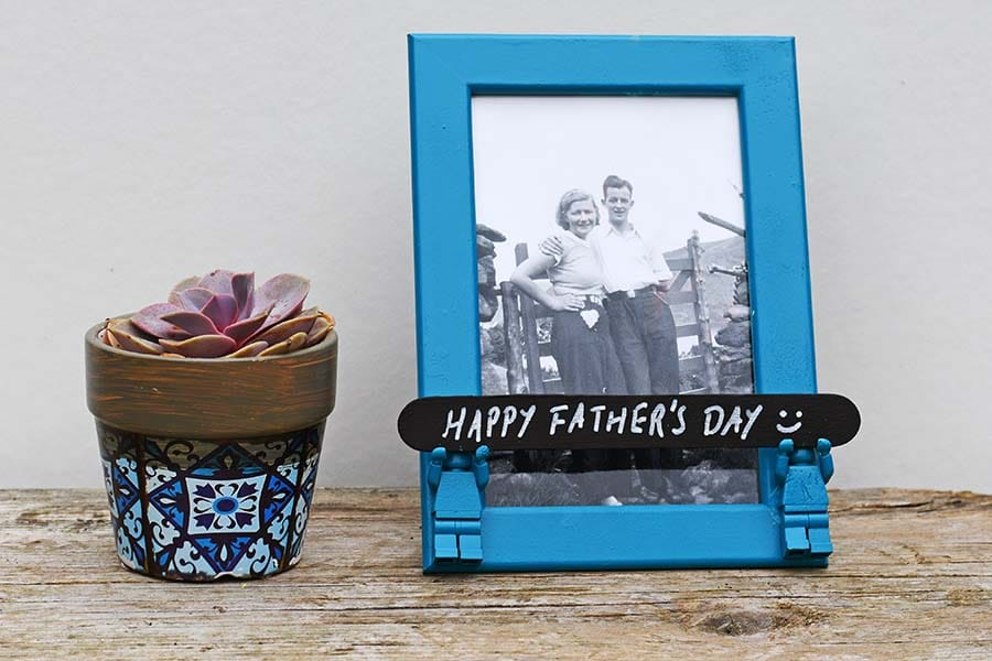 Father's Day Lego Minifigure frame gift