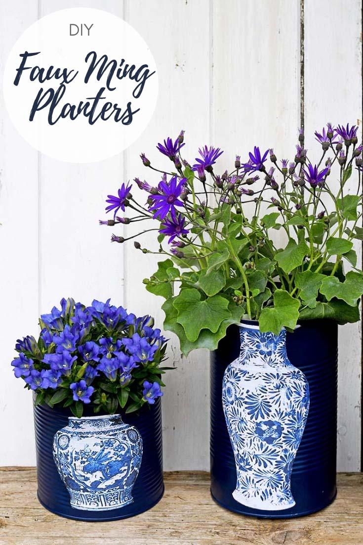Pillar Box Blue & Fun and Unique Oriental Vase DIY flower pots - Pillar Box Blue