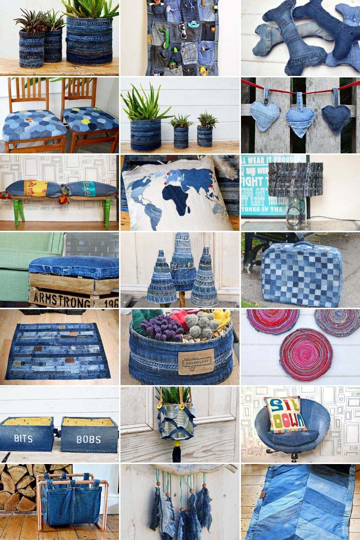 40 plus denim upcycling projects