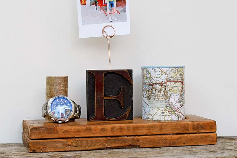 DIY fathers day gift nightstand caddy