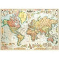 Cavallini & Co. World Map Decorative Decoupage Poster Wrapping Paper Sheet