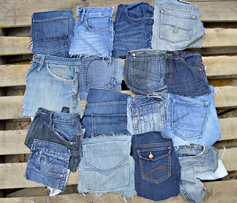 Denim pockets cut out