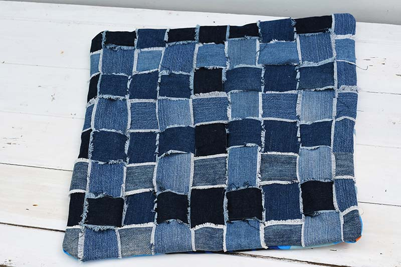 denim woven cushion