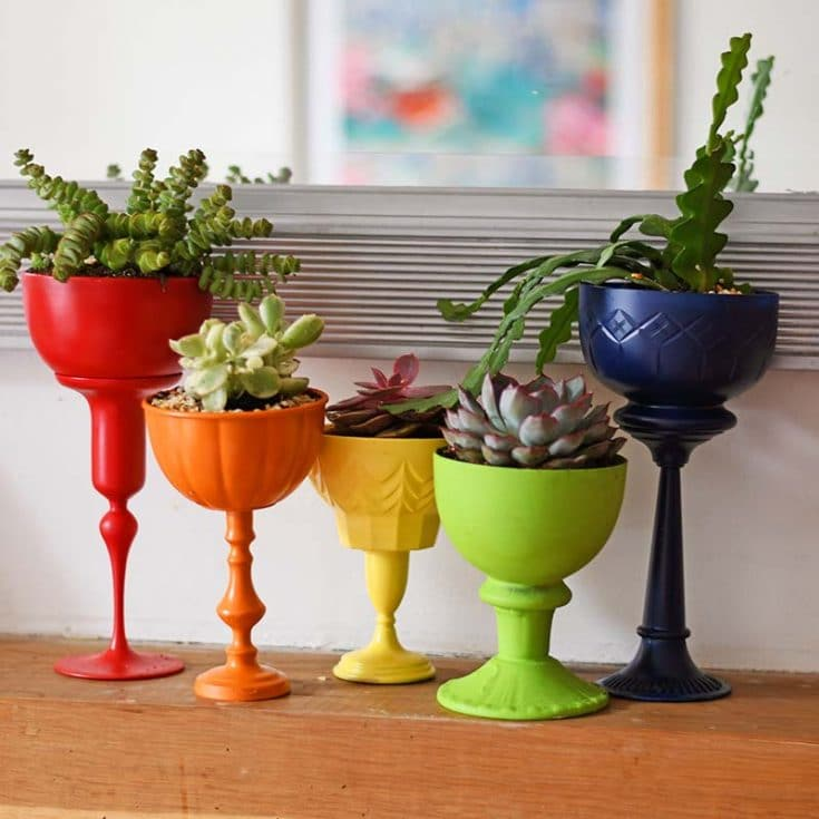 Make Upcycled Tall Succulent Planters