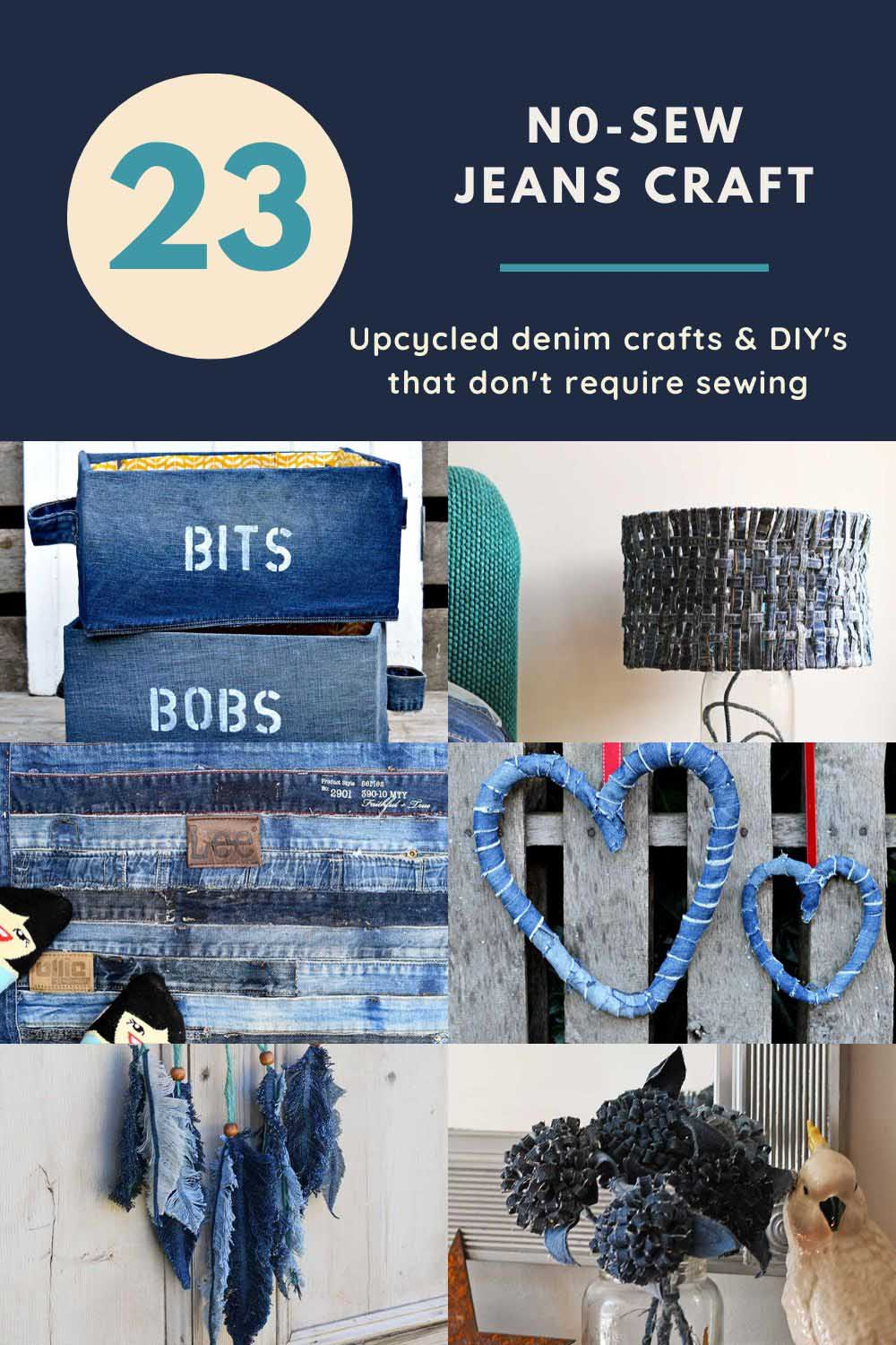 23 coolest no-sew jeans projects