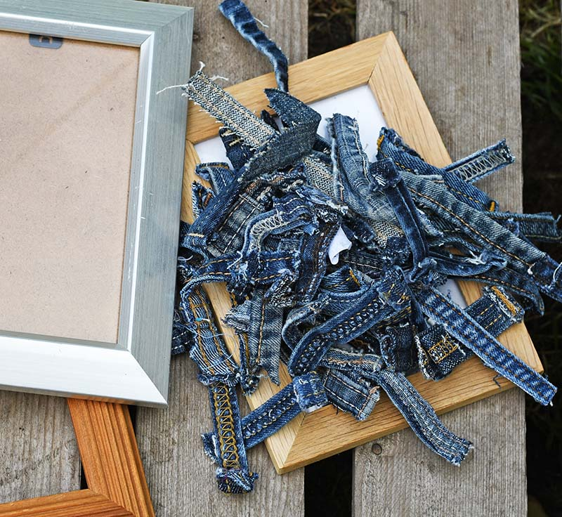 what you need to make belt loop denim frames