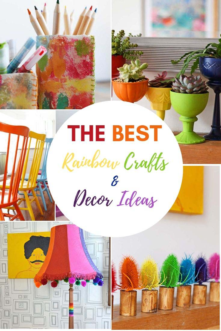 The best rainbow home decor ideas and crafts.