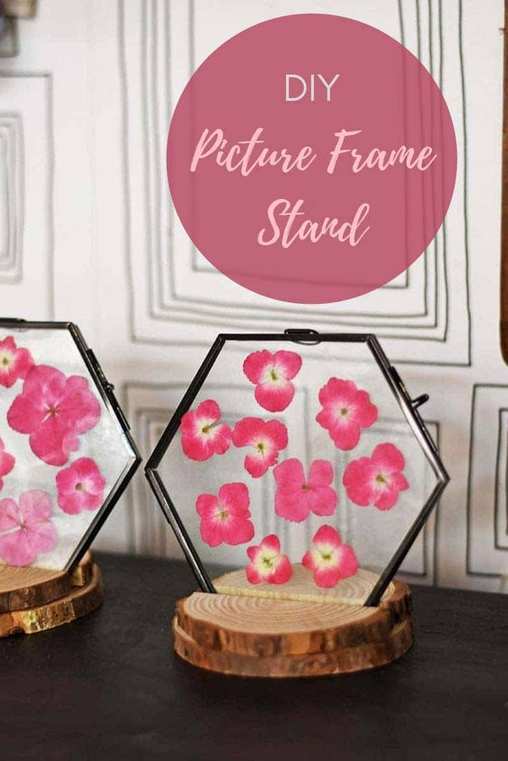 DIY picture frame stand