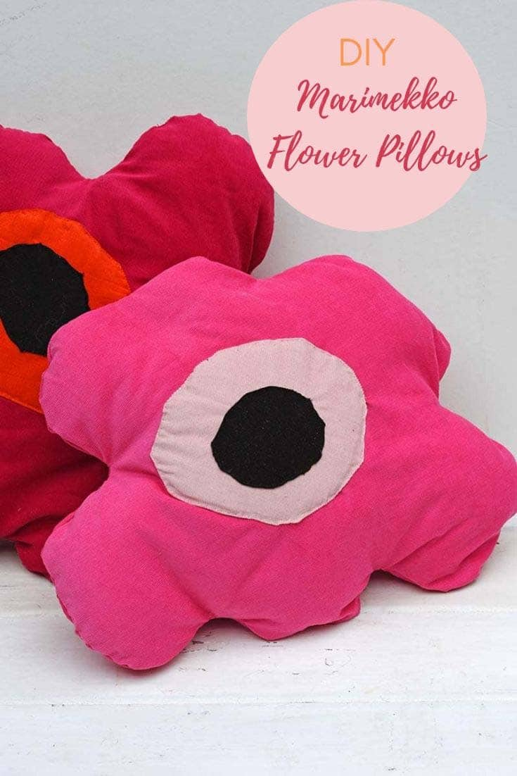 DIY Marimekko Poppy Pillows