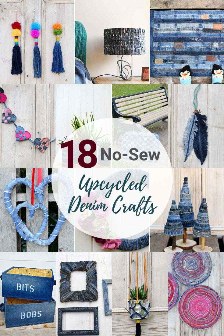 what to do with old jeans no-sew projects