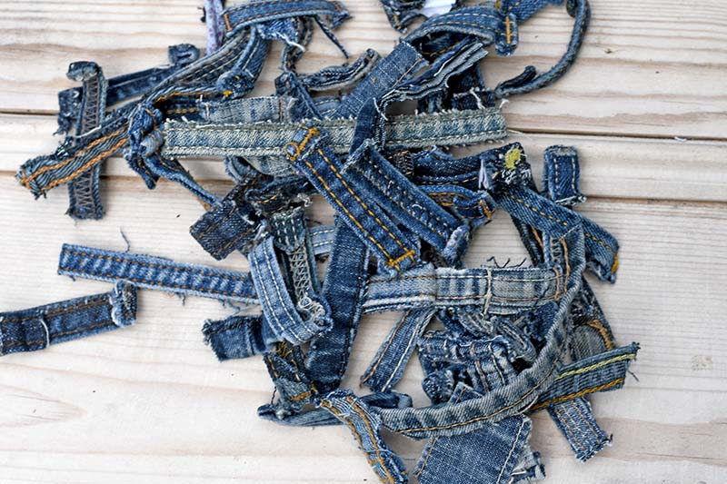 Denim belt loops