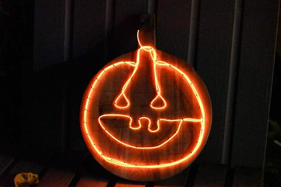 Upcycled light-up Pumpkins