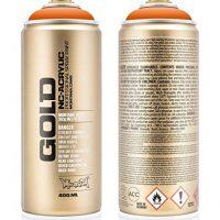 Montana Cans 284274Spray Gold GLD4002070, 400ml, Orange