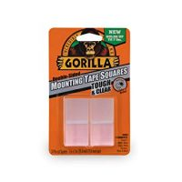Gorilla 6067201 Tough & Clear Mounting Squares, 24 Count, Clear, 1 Pack